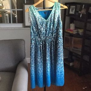 Ann Taylor Petites V-neck Empire Waist Dress.  EUC